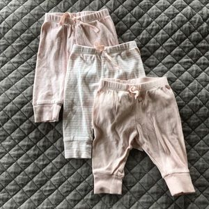 Baby Gap Girl Pant Bundle Pink White Cotton Stripe